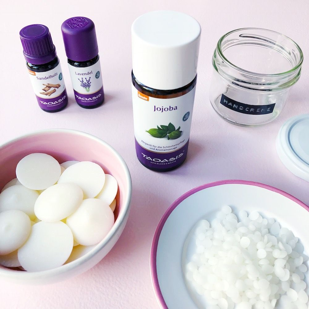 Photo of DIY hand cream with only 3 ingredients with lavender sandalwood scent