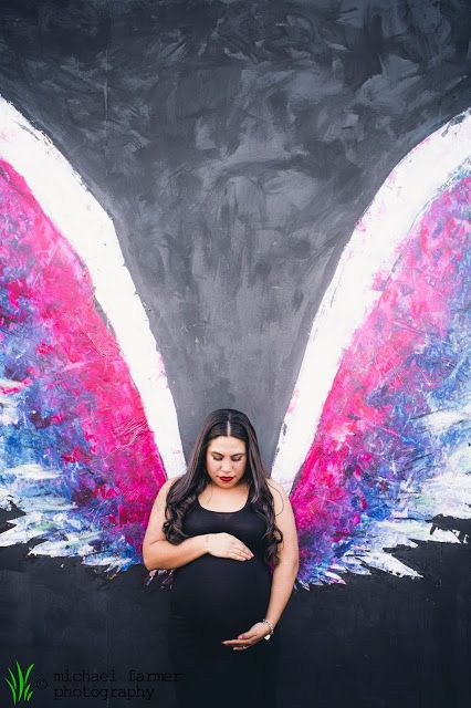 Maternity, los angeles, arts district, la, graffitti, wings, street art, colorful, baby, family, love, pregnant