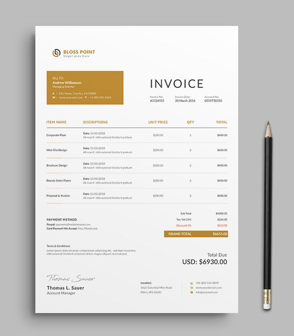 Invoice #Template Use this Clean Invoice for personal, corporate or