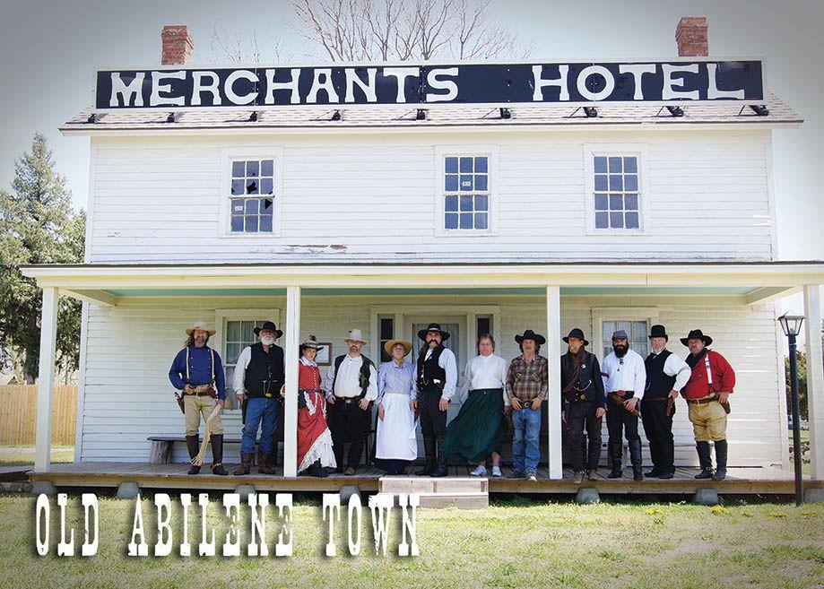 Postcard Old Abilene Town Merchants Hotel Kansas Ah Photography