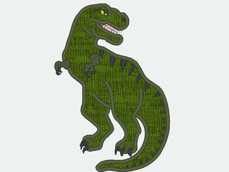 stickapplikationen  t rex dinosaurier