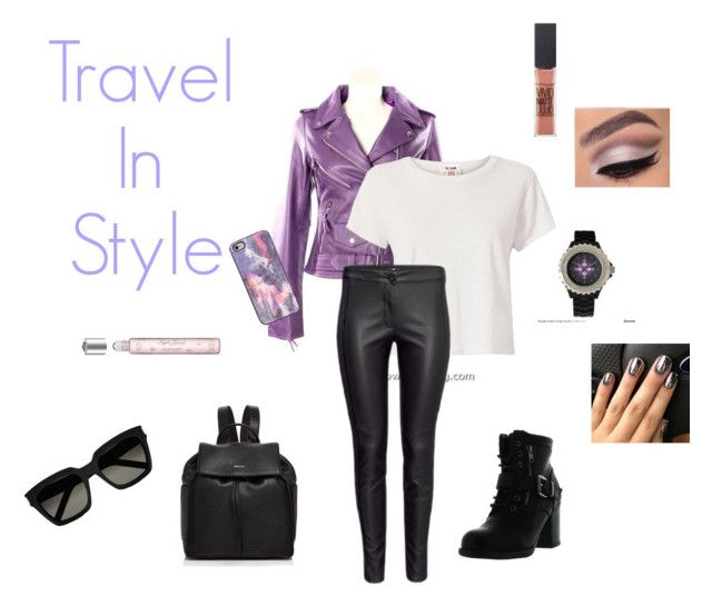"""Covet: Travel in Style"" by gravityfallsgirl33 ❤ liked on Polyvore featuring RE/DONE, Betani, DKNY, Maybelline, Morgan Lane, Yves Saint Laurent, Speck and Samantha Warren London"
