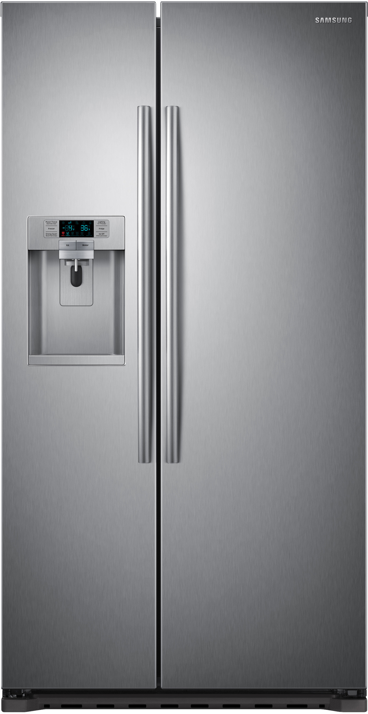 Samsung Rs22hdhpnsr 36 Inch Counter Depth Side By Side Refrigerator With 22 3 Cu Ft Capacit Counter Depth Refrigerator Counter Depth Energy Star Refrigerator
