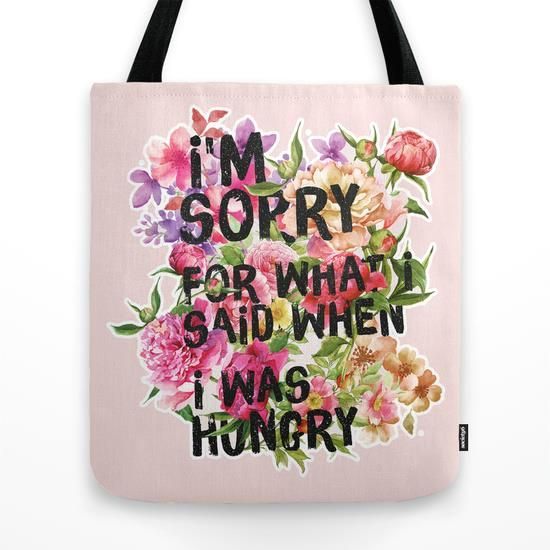 I'm Sorry For What I Said When I Was Hungry by Sara Eshak motivational poster word art print black white inspirational quote motivationmonday quote of the day motivated type swiss wisdom happy fitspo inspirational quote