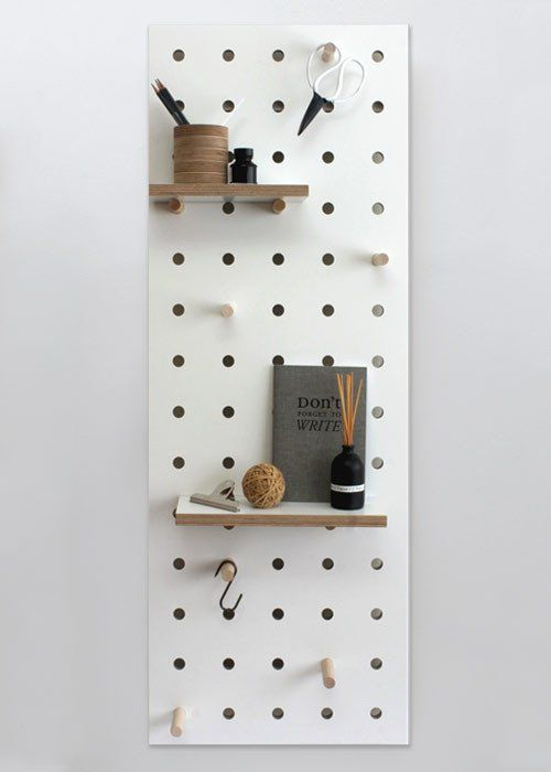 Peg It All Midi Pegboard Wall Mounted Storage Panel In