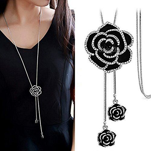 Jewelry & Accessories Necklaces & Pendants Ingenious 925 Sterling Silver Necklace For Women Shimmering Rose Pendant Necklace Clear Cz Pave Crystals Fit Lady Jewelry