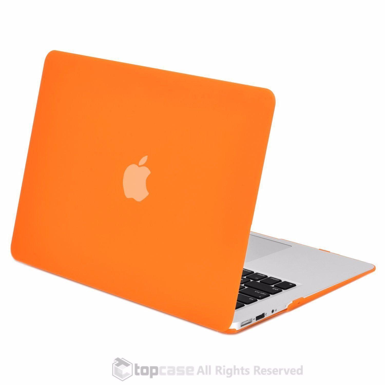 "Keyboard Cover+LCD Screen+Bag 4in1 Rubberized ORANGE Case for Macbook White 13/"""