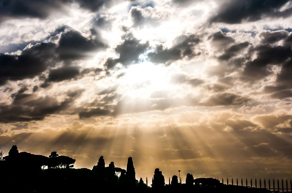 Sunset Over the Aventine Hill in Rome
