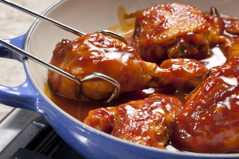 Skillet Barbecued Chicken | MrFood.com