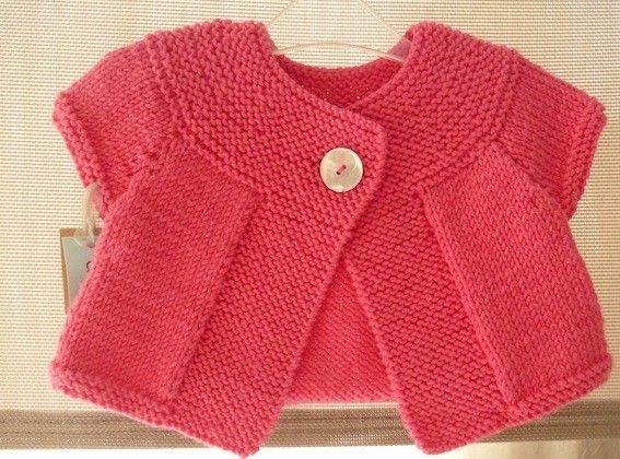 modele tricot gilet fille sans manches