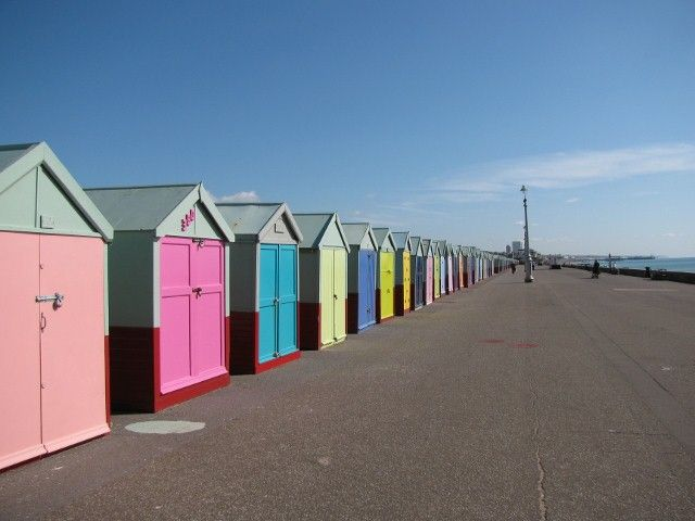 Brighton Beach Huts, England