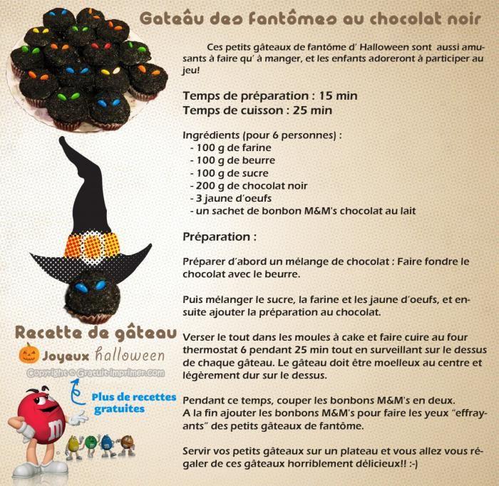 Recette gateau halloween gratuite facile gateau de fantome au chocolat recette de cuisine - Recette gateau halloween facile ...