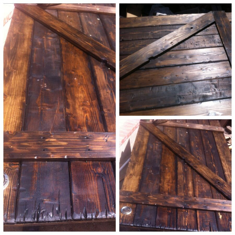 Distressed Wood Barn Door Stain Home Beautify Wood