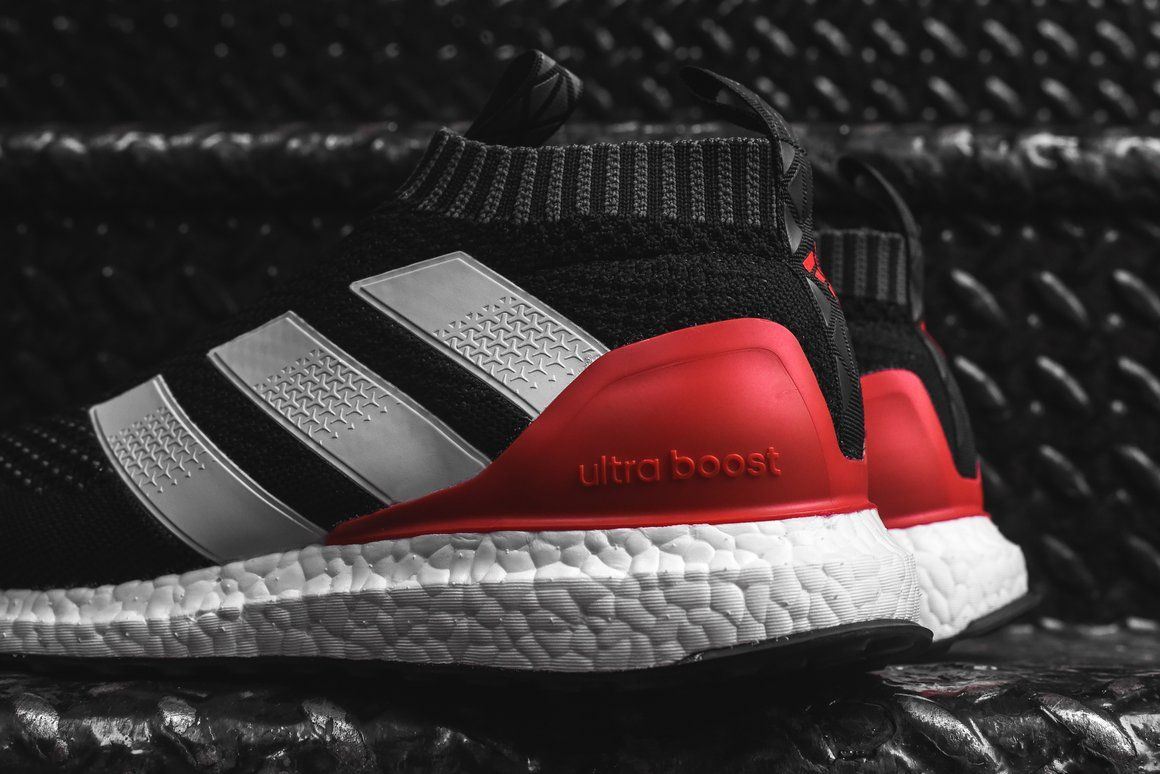 Adidas Releases The Ace 17 Pure Control Ultra Boost Model In A Red X2f Black Color Scheme This Bootie Constructed Pu Laceless Adidas Release Pure Products