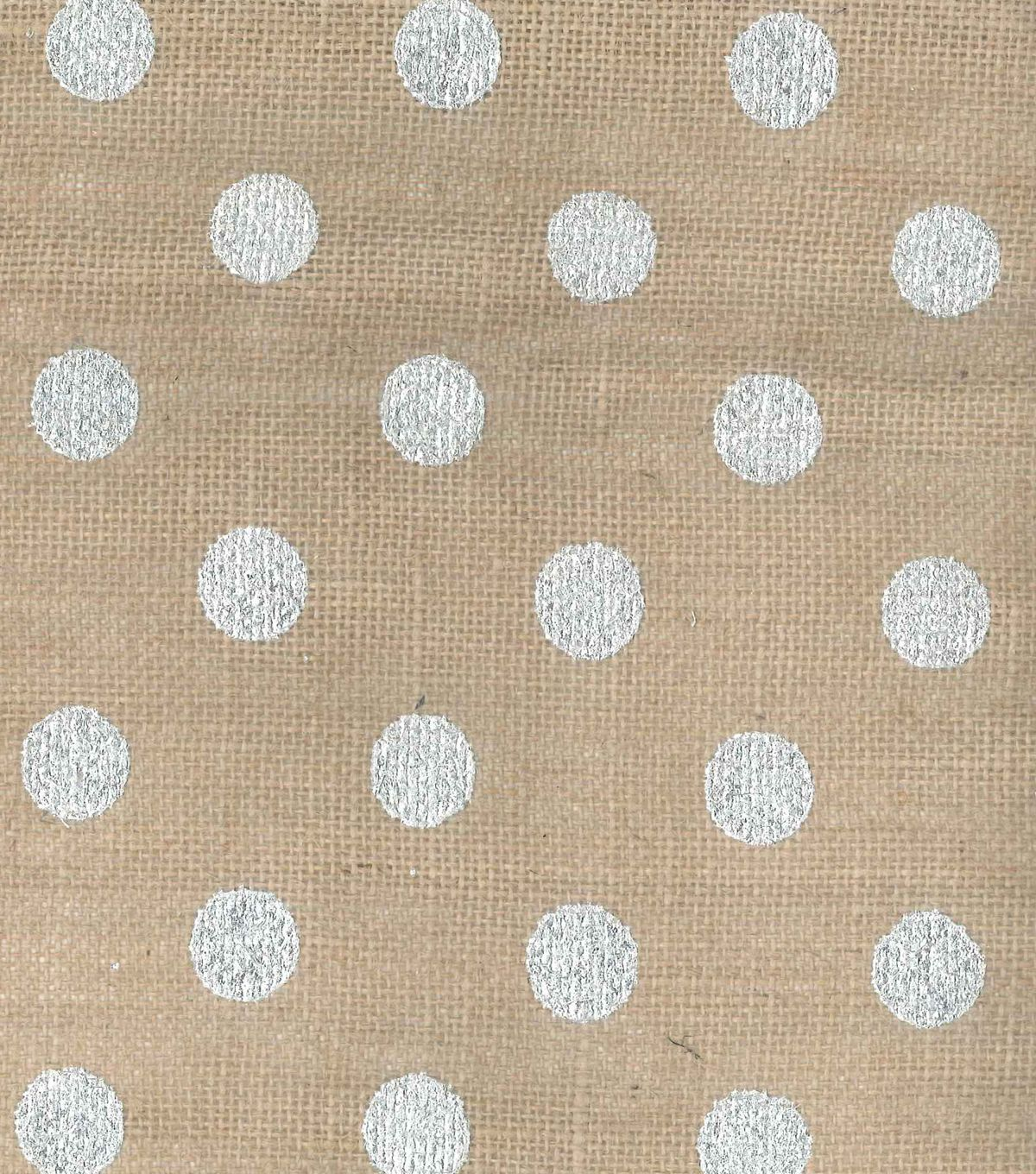 Utility fabric metallic dot burlap silver burlap for What is burlap material