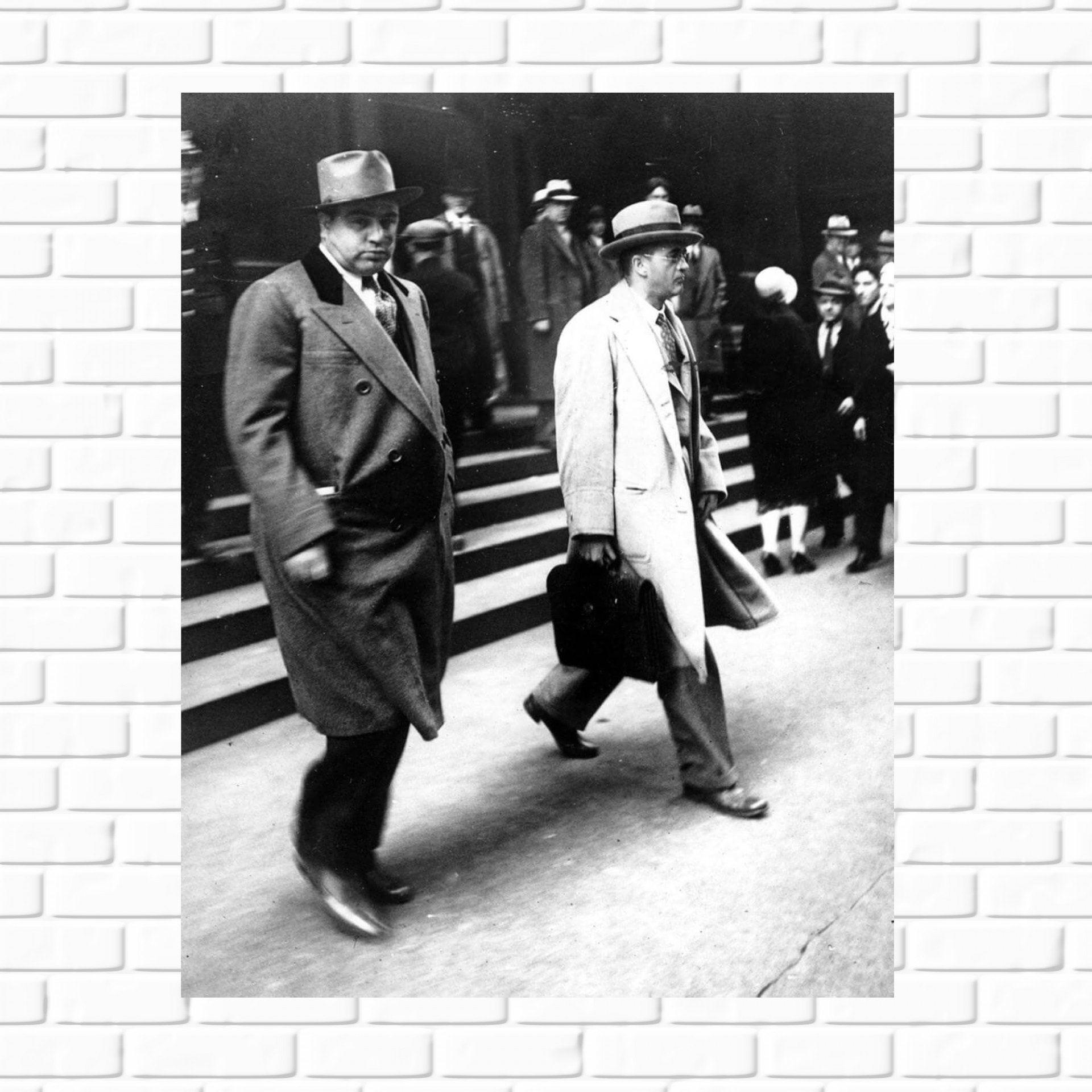 Al Capone 1931 Photo Leaving Court Tax Evasion Mafia Etsy Al Capone Man Cave Wall Art Gangster
