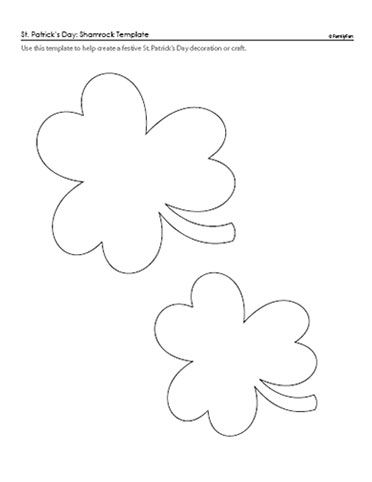 St PatrickS Day Printables  Shamrock Template Template And Saints