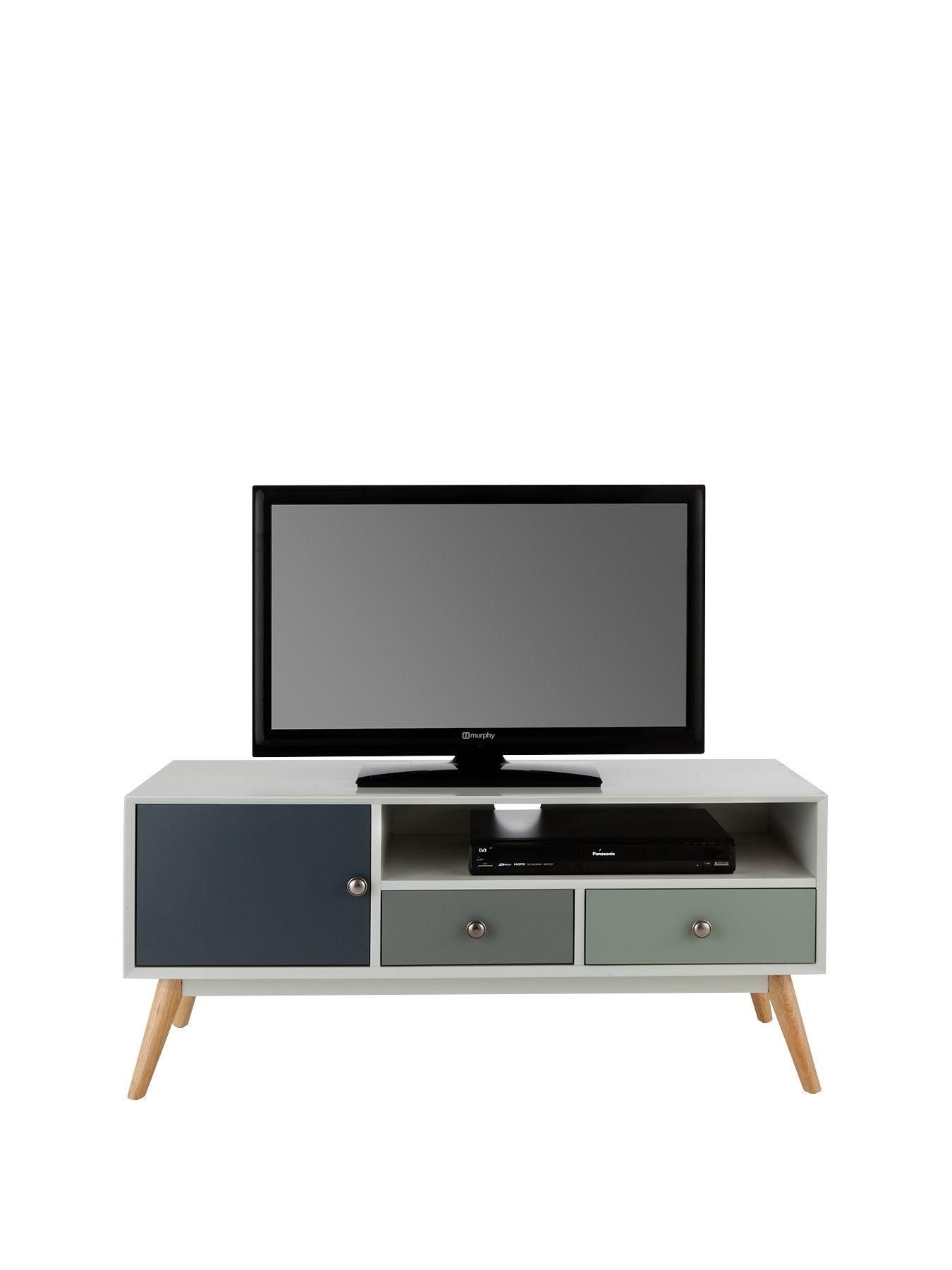 Ideal Home Orla Retro Tv Unit Fits Up To 50 Inch Tv Tv Unit  # Meuble Tv Miami