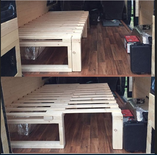Design For A Diy Wooden Frame That Adjusts To A Narrow Or Wide Bed Or Futon Diy Pallet Furniture Diy Pallet Bed Pallet Diy