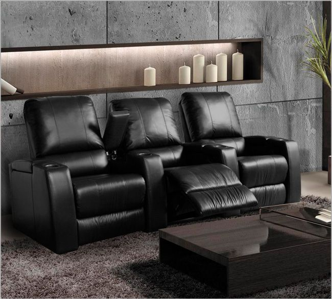 Magnolia Home Theater Seating Black Or Brown Leather Exclusive For Best Buy Stores
