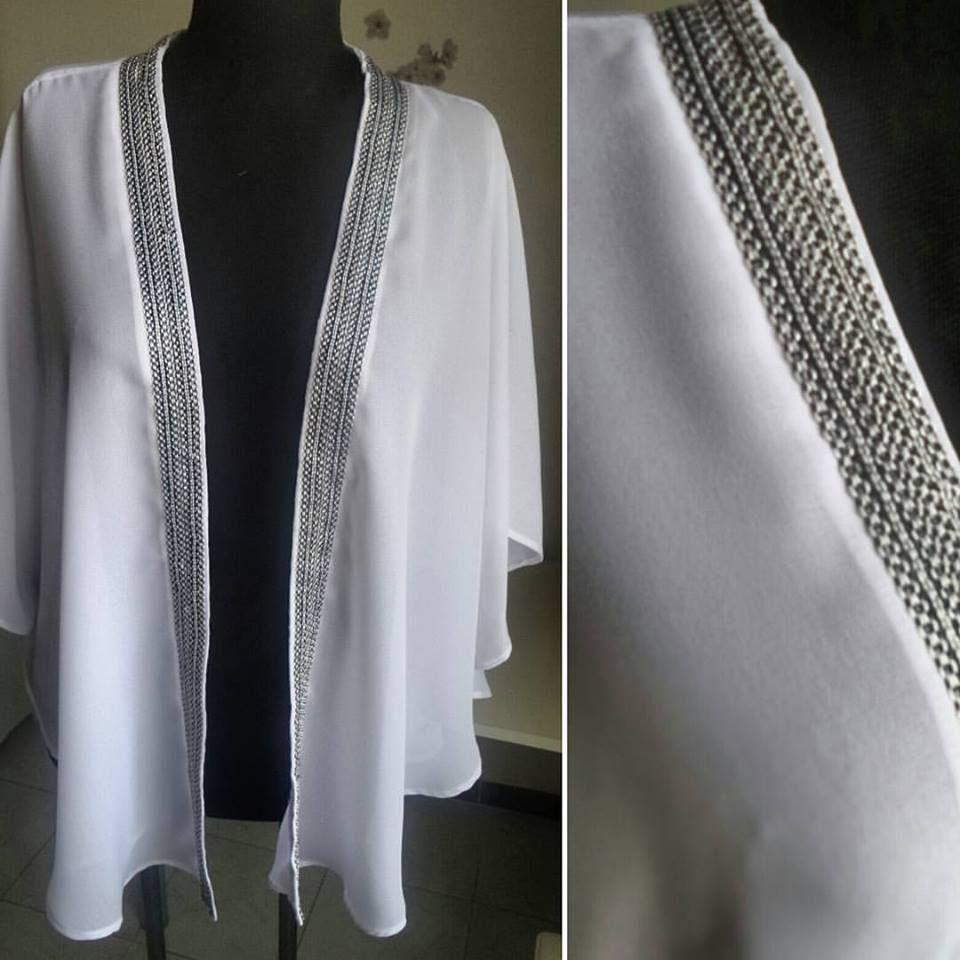 Kimono poncho brodé pour l\'été : Patron PDF gratuit | Samia Création ...