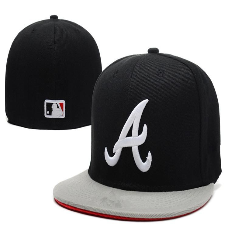 Wholesale Atlanta Braves Fitted Caps A letter Full closure