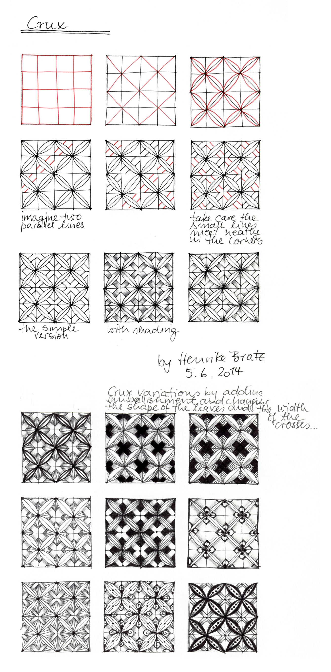 Zentangle Muster Paradox Youtube 6