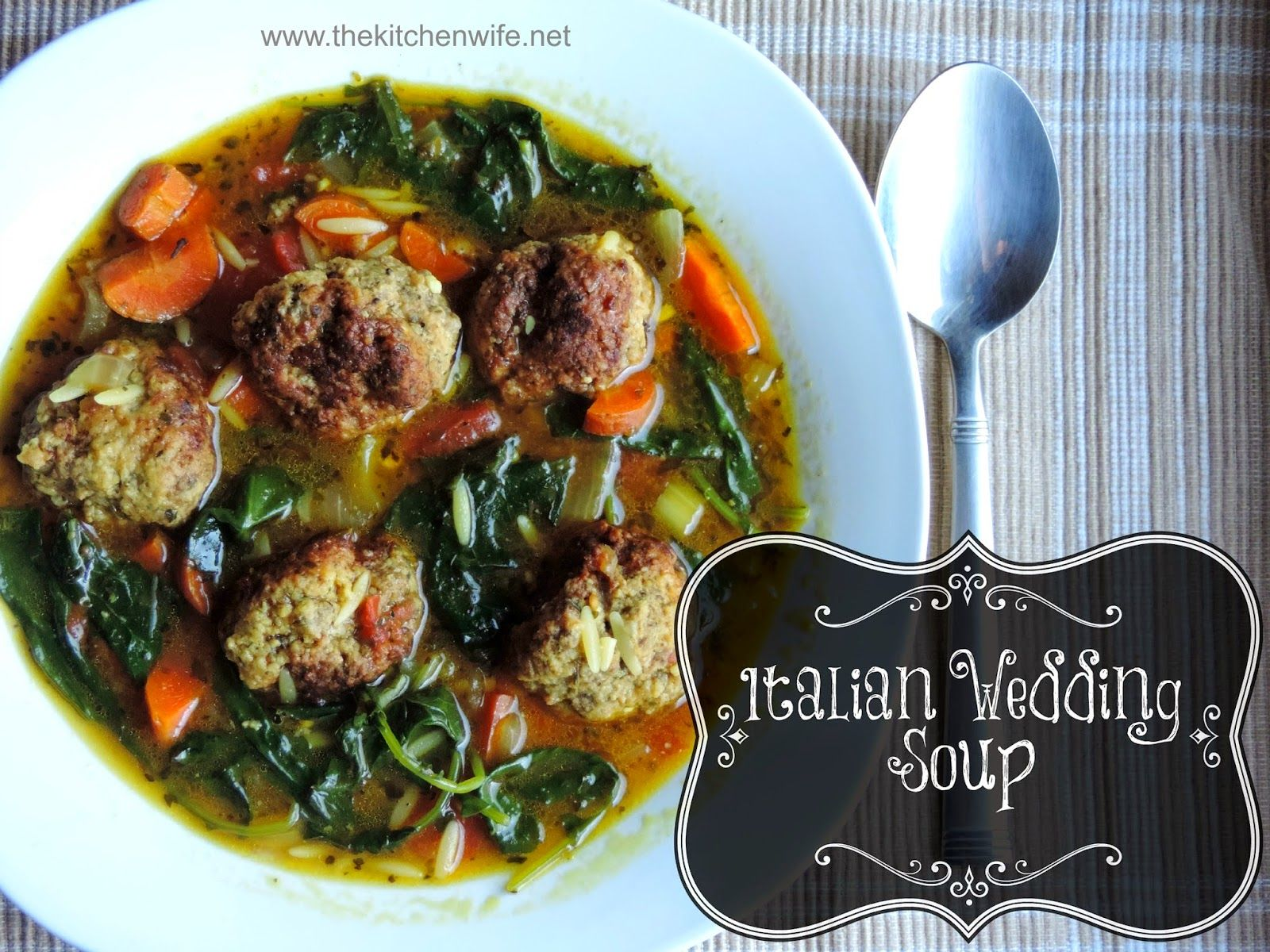 Italian Wedding Soup (With images) Italian wedding soup