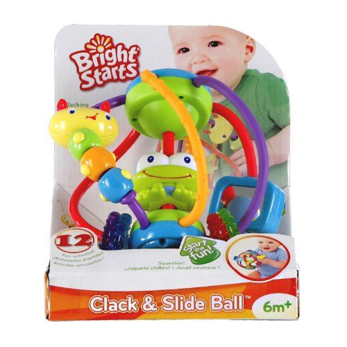 Bright Starts Clack and Slide Activity Ball | Shopping World Super Store List Price: $22.99 Discount: $14.11 Sale Price: $8.88