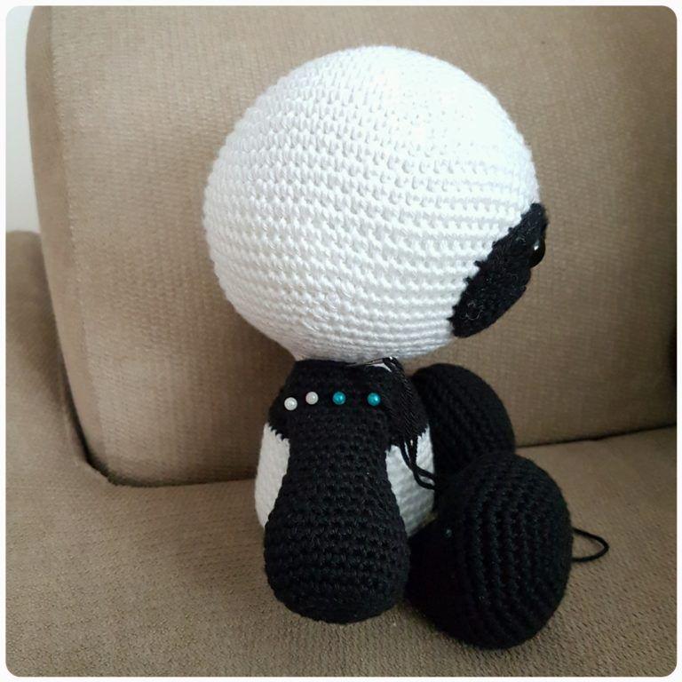 Panda amigurumi – Descrição do Passo a Passo – Bonek de Crochê | 768x768
