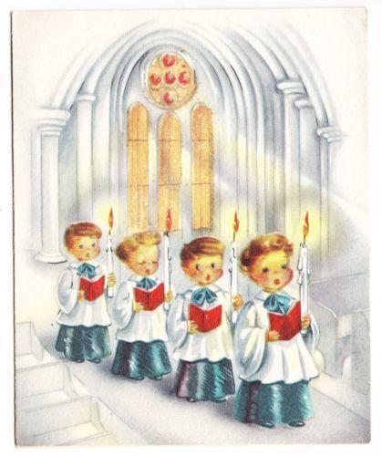 vintage cards with choir boys - Google Search