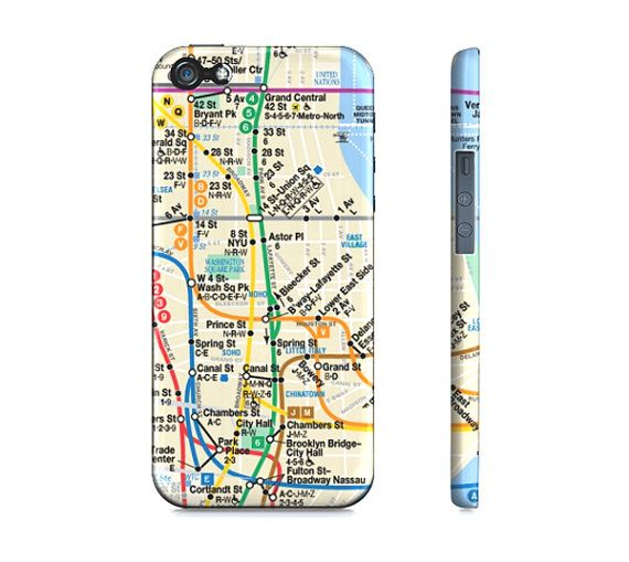 Modern New York Subway Transit Map Premium Slim Fit