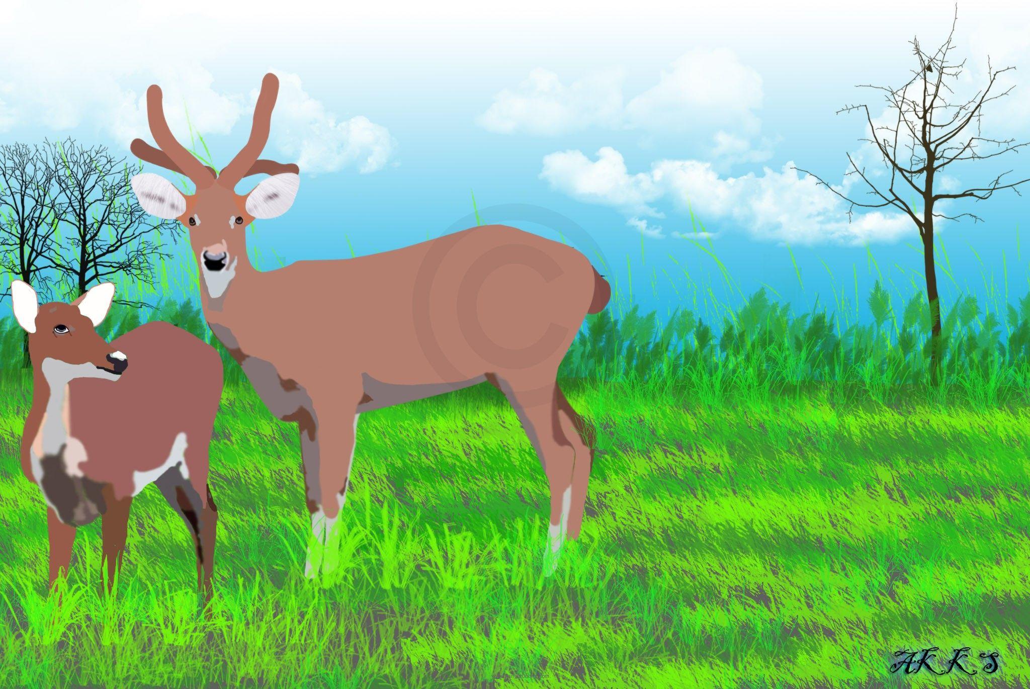 State Animal of Manipur artwork by Akoijam Artwork
