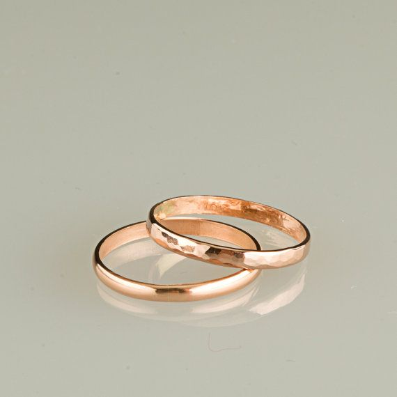 ONE ring 10kt gold 12g Pink gold or yellow gold by TheLoveKnotShop