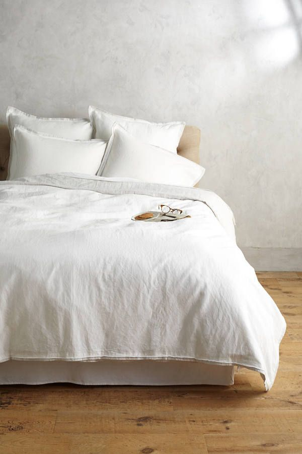 Anthropologie Relaxed Cotton Linen Duvet Linen Duvet White Duvet Covers Cheap Bed Sheets