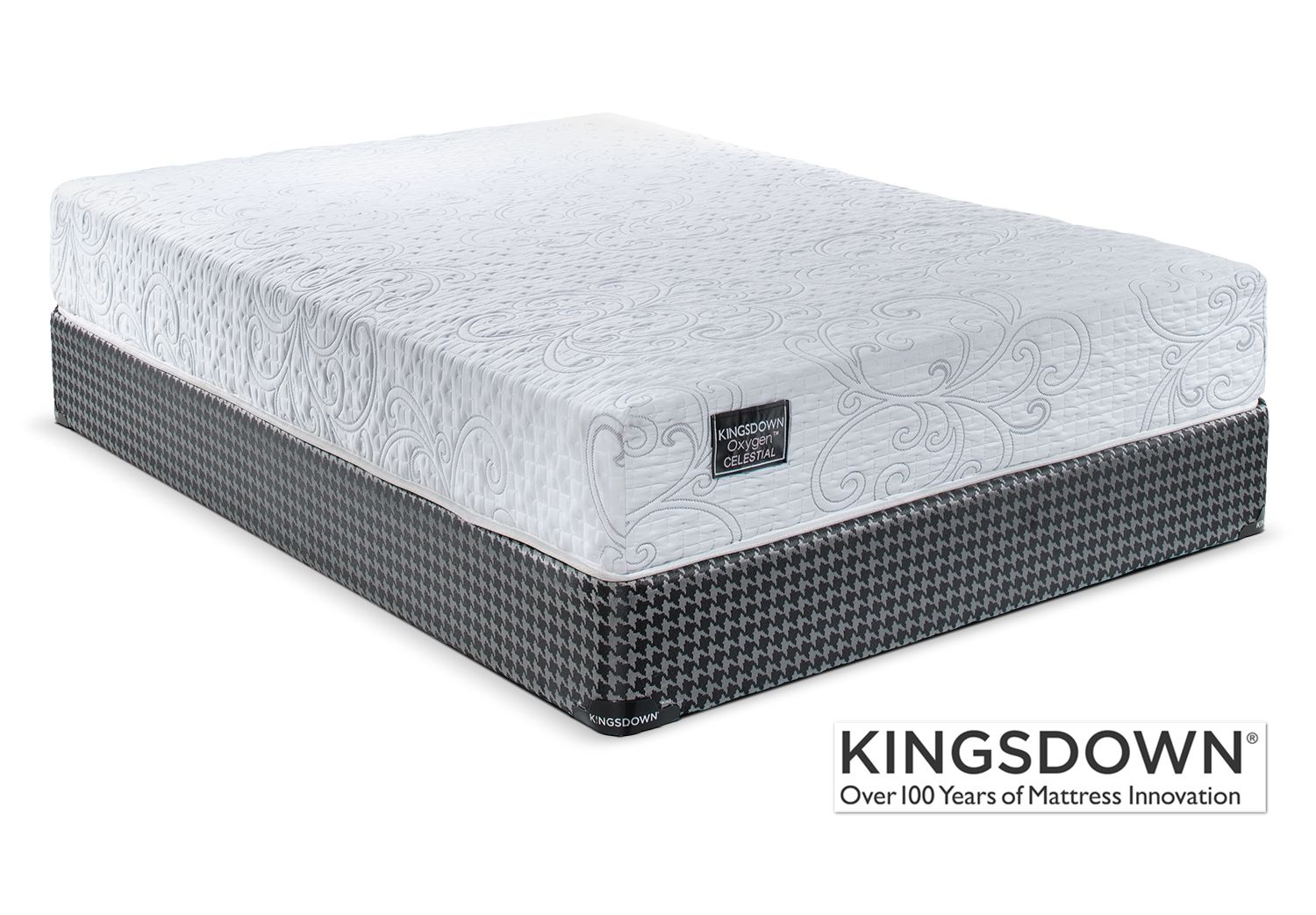 kingsdown celestial firm queen mattress and boxspring set mattress
