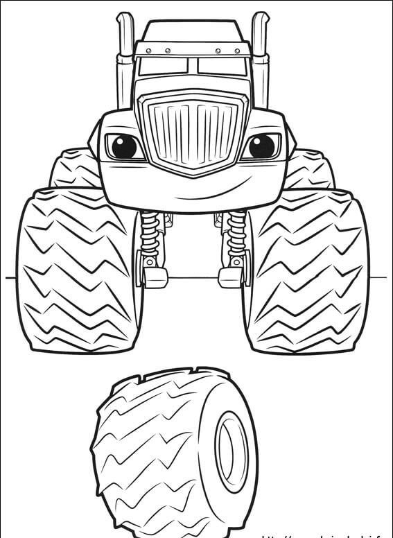 Crusher Blaze and the monster machines coloring pages ...