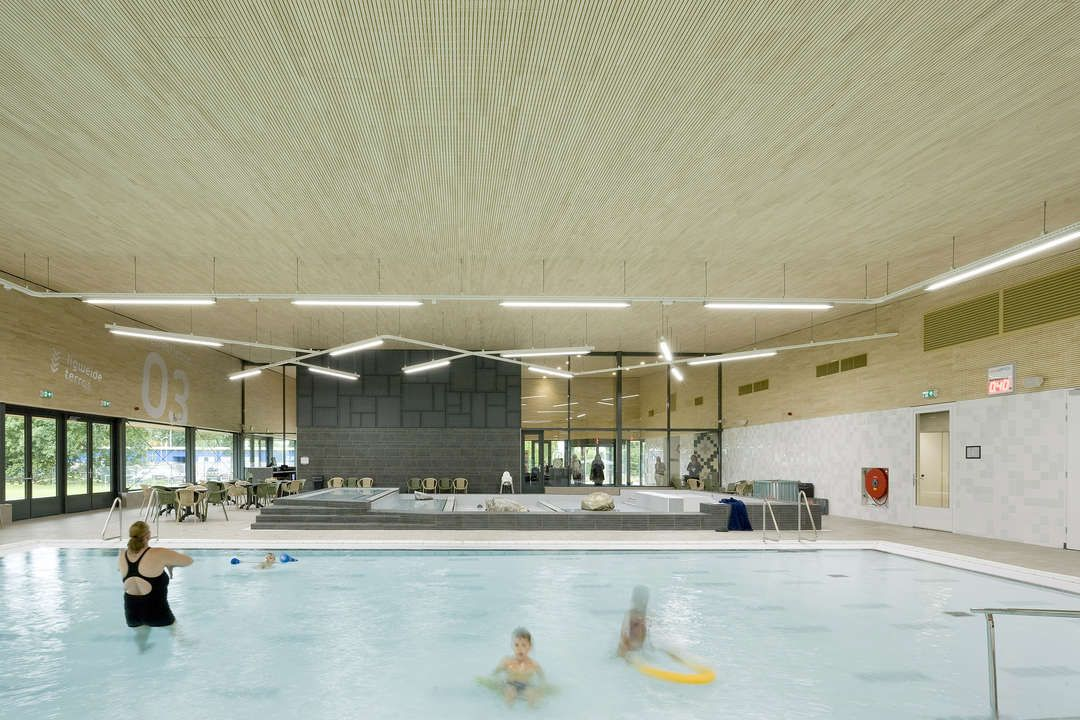 The multifunctional swimming pool and sports club