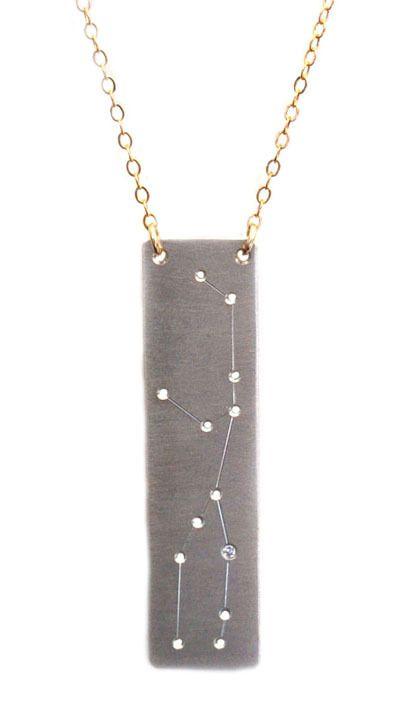 Virgo constellation necklace.