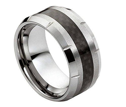 Tungsten Carbide Band Black Carbon Fiber Inlay Men's Wedding Ring Size 9.5 Sac Silver http://www.amazon.com/dp/B00NMP6ITC/ref=cm_sw_r_pi_dp_EwELvb0G5PV70