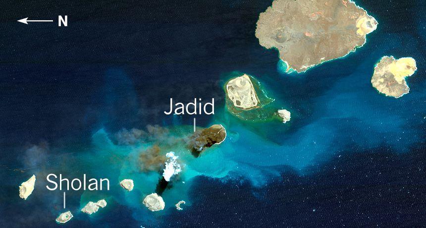 انفجار بركان في البحر الاحمر وظهور جزر جديدة Public Pinterest