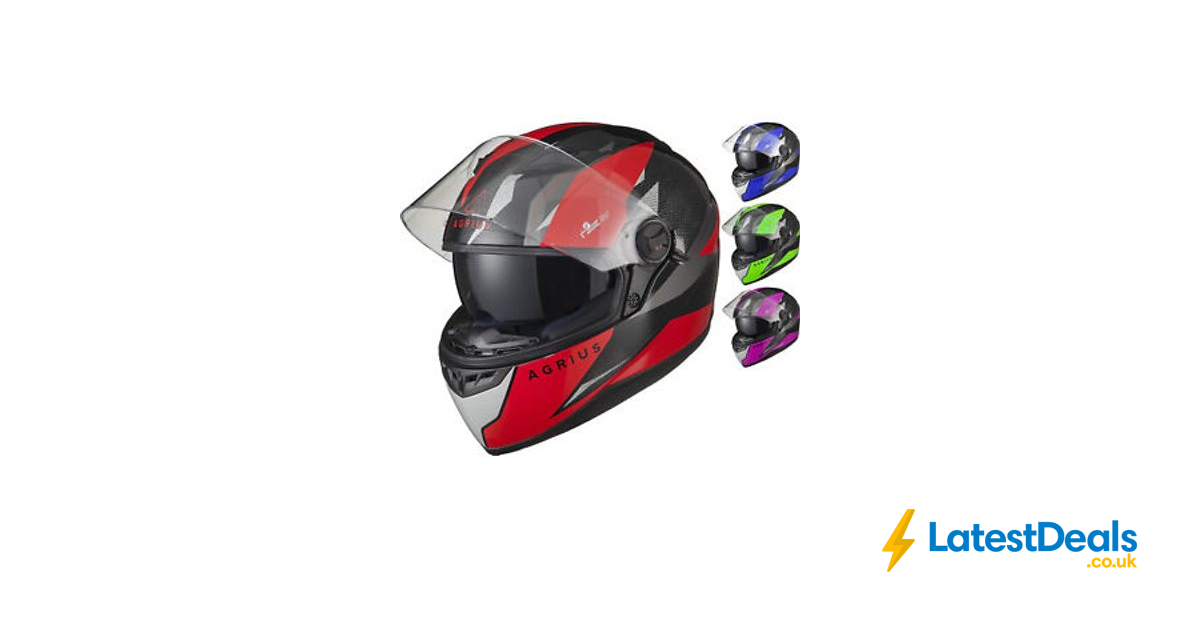 5c62a3f4 Agrius Rage SV Fusion Motorcycle Helmet Full Face Bike Pinlock Ready Sun  Visor, £26.99 at ebay