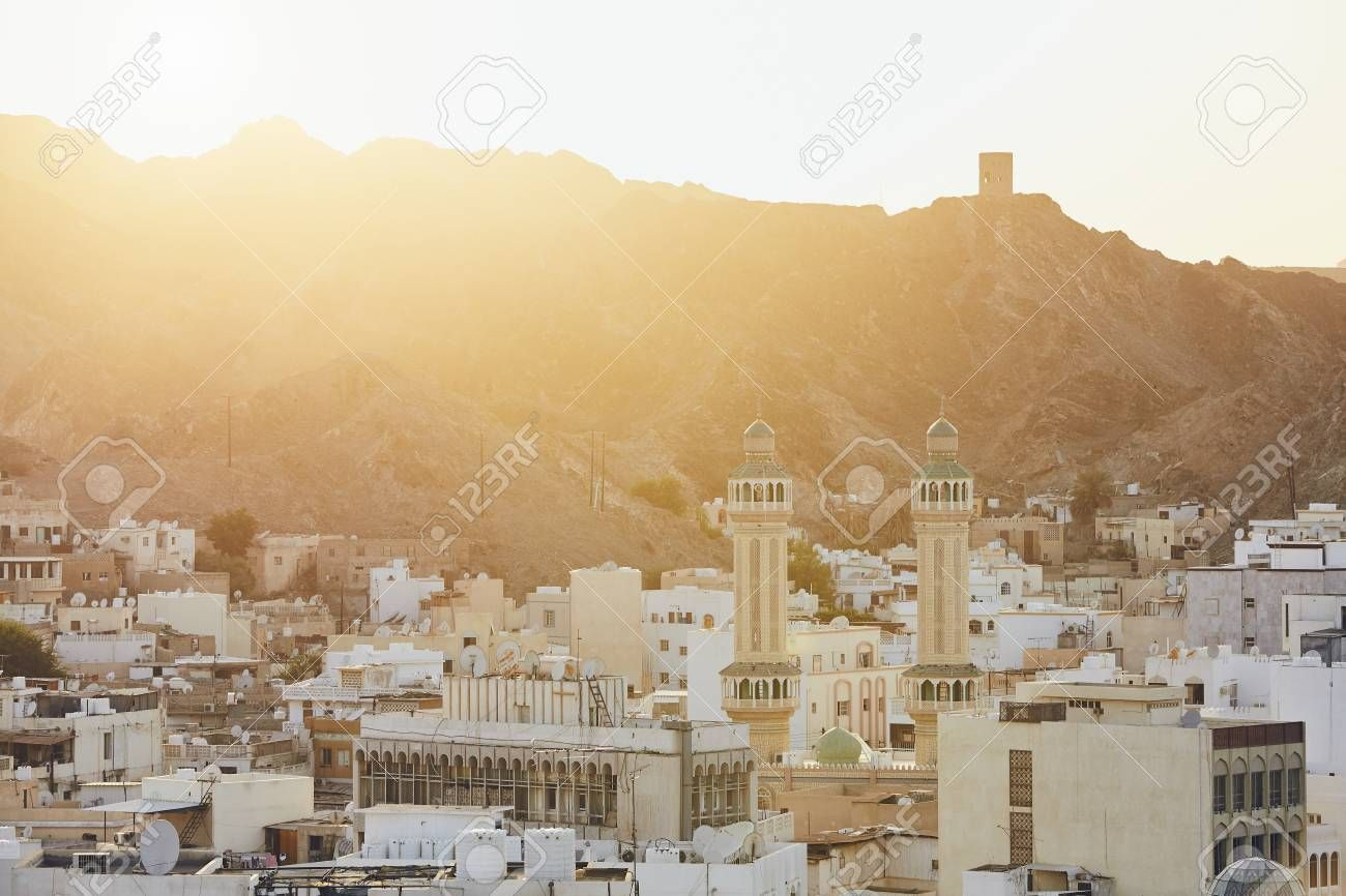 Cityscape View Of Muscat City At Sunset The Capital Of Oman Sponsored Muscat View Cityscape City Oman Muscat City Cityscape Paris Skyline