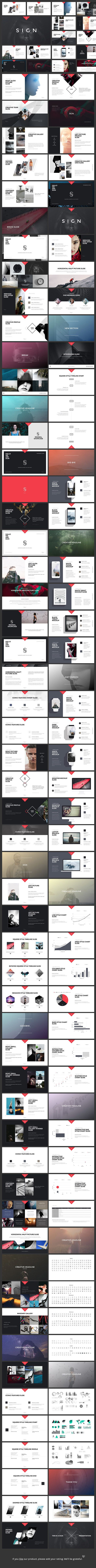 Sign Keynote Presentation  Presentation Templates Creative And