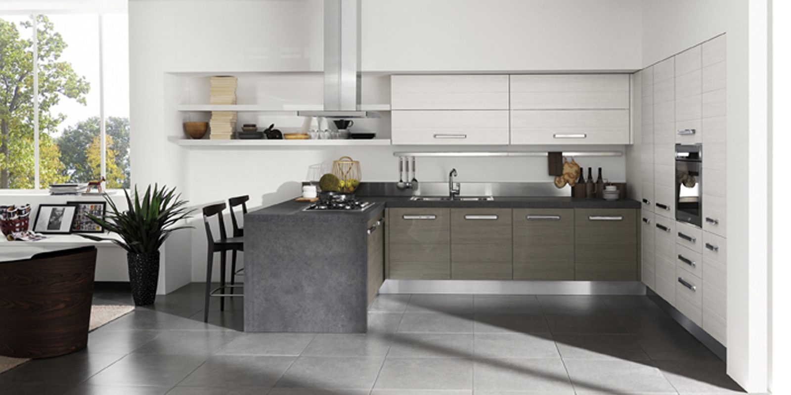 cucine a u moderne - Cerca con Google | Cucine casa | Pinterest ...