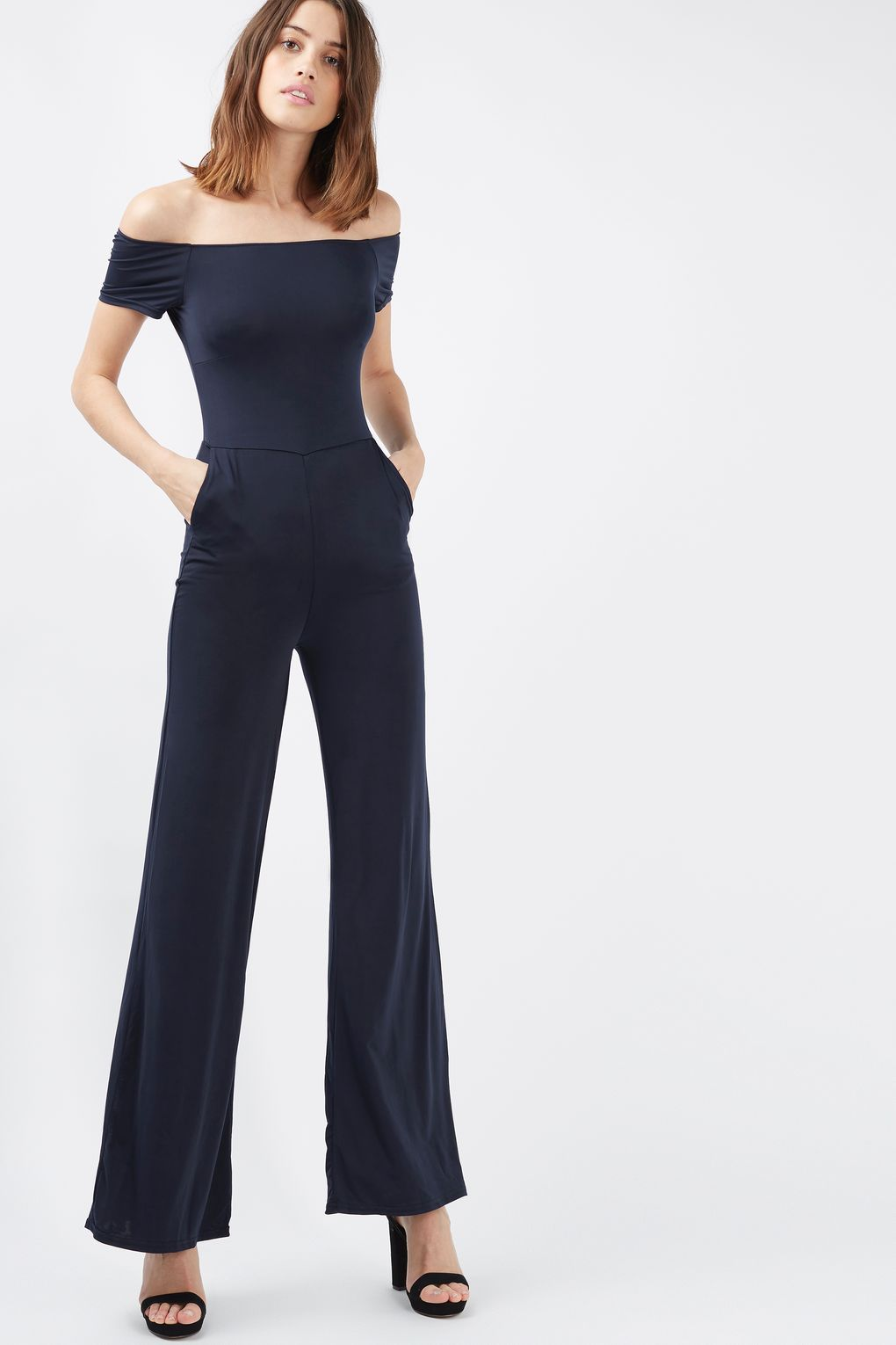 4e25fb9b9 Off Shoulder Wide Leg Jumpsuit by Oh My Love   i don't care, I love it.