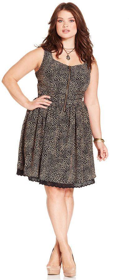 American Rag Plus Size Sleeveless Heart Print Dress On Shopstyle
