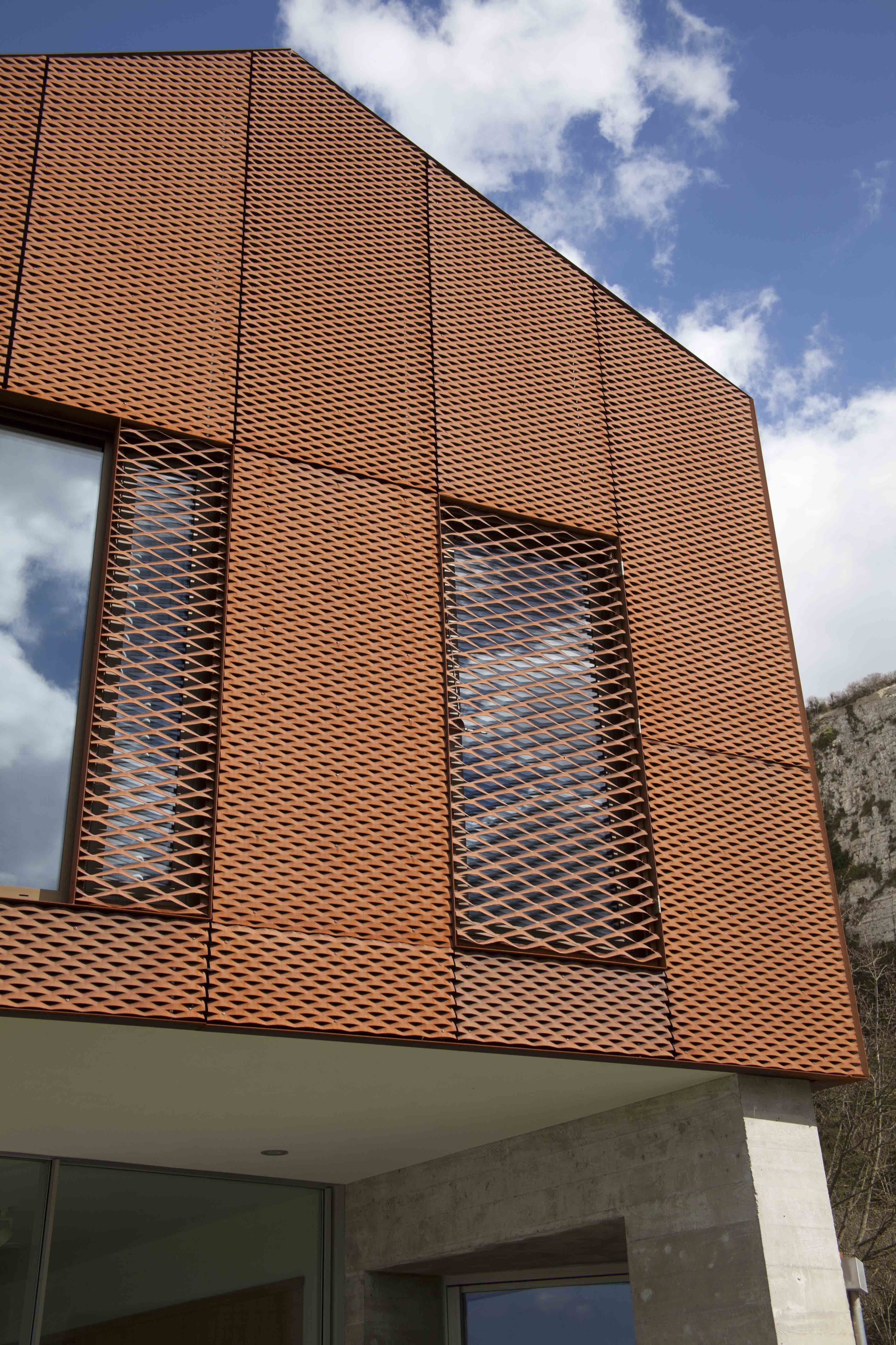 Kingspan tek cladding corten google search x for Fachada acero corten