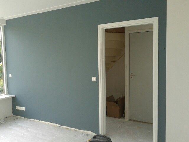 Grijs blauw groen kleur metamorfose van histor home - Kleur blauwe verf ...