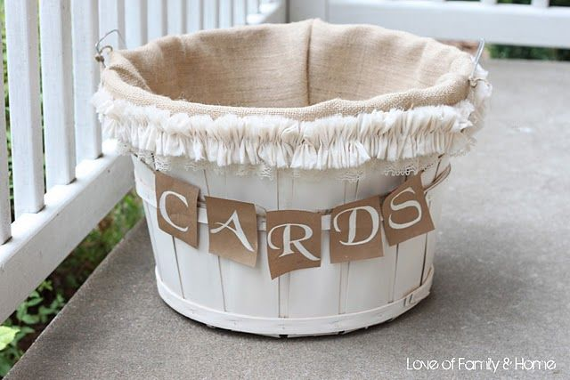 DIY Wedding Card Basket